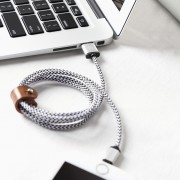 Hand sewn PU Cable for iPhone